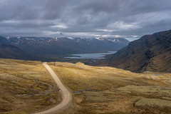 939 (Mattias Hedberg) Tags: fjord iceland summer gravel landscape eastfjord nature water moss road cloud mountain