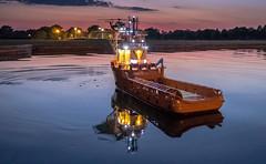 Model boat (2 of 3) (+Pattycake+) Tags: people night norwich evening eatonpark ©patriciawilden2019 modelboat boatinglake boatingpond