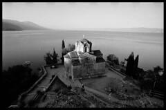 Lake Ohrid (Michael Kommarov) Tags: nikon f3 voigtlander sl 20mm analog 35mm ilford black white film wide angle