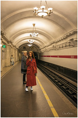 Lady in Red (clive_metcalfe) Tags: stpetersburg russia metro station platform lady redcoat leningrad petrograd