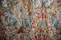 William Morris - Arts and Crafts (fotosforfun2) Tags: nationaltrust standen standenhouse history tapestry beautiful red blue material cloth artsandcrafts flowers nature williammorris morris william historical statelyhome brown thread needle skill