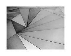 ABC museum 3 (BLANCA GOMEZ) Tags: spain madrid bw blackwhite light shadows shapes textures silhouettes museoabc abcmuseum museum drawing illustration blancoynegro arquitectura architecture arquitectos josélópezsalaberry arangurengallegos factoríadelacervezamahou pavement street triangles