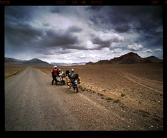 Storm Approaching (tsiklonaut) Tags: pentax 6x7 67 67ii film analog analogue analogica analoog 220 roll medium format fuji fujifilm velvia 50 rvp slide dia positive e6 hunt chrome 6x tajikistan tadžikistan pamir mountains pamiirid mäed motomatk motorcycle travel r1100gs drz 400 offroad riding trail landscape drum scan drumscan scanner pmt gbao gorno badakhshan heliopan