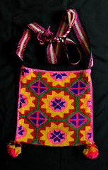 Morral Shoulder Bag Huichol Mexico Textiles (Teyacapan) Tags: huichol bag bolsa purse wixarika textiles mexican morral embroidered