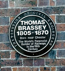Plaque (daveandlyn1) Tags: plaque wall brickwork thomasbrassey chesterrailwaystation p8lite2017 pralx1 huaweip8 smartphone psdigitalcamera