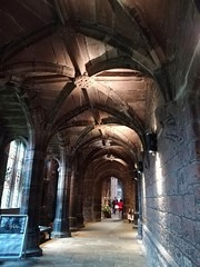 Chester Cathedral (daveandlyn1) Tags: cloisters passageway vaultedceiling sandstone columns cathedral chestercathedral smartphone cameraphone psdigitalcamera pralx1 p8lite2017 huaweip8
