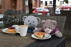 we love outdoor cafes (veebruar) Tags: cesis latvia trip summer cafe bears