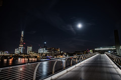 Moon river (Paul wrights reserved) Tags: moon river moonriver leadinglines leading shard tate london londonstreets building buildings bridge bridges londonskyline city cityscape londonnights night nightphotography nighttime nightscape moonlight sky skyscape skyscapes nightsky skies skyatnight
