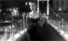 (horlo) Tags: nb bw blackandwhite noiretblanc monochrome film movies cinema portrait fonddécran wallpaper glamour actress vintage woman femme magdalenafrackowiak collage