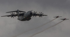Airbus Anniversary Flypast (Hawkeye2011) Tags: aircraft aviation airshow riat raffairford uk 2019 transport airbus a400m extra300 theblades