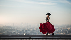 (dimitryroulland) Tags: nikon d750 85mm 18 dimitryroulland paris france montmartre red dress tango dance dancer natural light sunrise sun rise