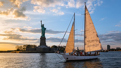 New York Harbor (Robert Wash) Tags: newyork ny newyorkcity nyc statueofliberty shearwater schooneramerica20 newyorkharbor