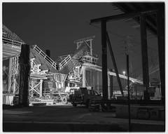 Skeletal (ADMurr) Tags: la eastside 6th street bridge project 2018 lf toyo 135mm lens bw black white 4x5 dba256 arista 100