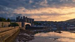 Conwy Castle (Jim Nix / Nomadic Pursuits) Tags: jimnix travel unitedkingdom uk wales castle conwy historic landmark sunset harbor luminar sonya7ii 2470mm
