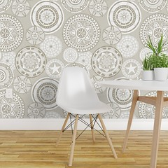 kazuki star alabaster large isobar wallpaper (Scrummy Things) Tags: scrummy kazuki mandala pattern collection illustration drawing star flower isobar sharonturner commercialwallpaper neutral ivory alabaster decor wallpaper