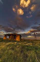 Airy Prairie Home (Explore 8/29/19) (Tom Herlyck) Tags: sunset colorado sky clouds america decaying flickr greatamericandesert history light outdoors southeastcolorado a7rii goldenlight highplains old pueblocounty ranch goldenhour windmill aermotorwindmill house home explore samyangsy14me14mmf28 samyangrokinon14mmf28