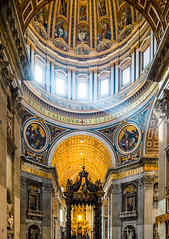 St Peter's Basilica (yorgasor) Tags: sony a7r2 a7rii canon 17mm tse tiltshift architecture catholic basilica vatican rome vaticancity stpetersbasilica dome sunrays