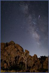 Milk and Meteor 4424 (maguire33@verizon.net) Tags: california joshuatreenationalpark lll milkyway mojavedesert galaxy lightpollution meteor stars