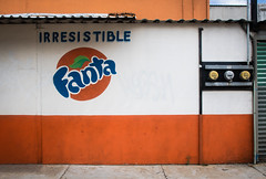 irresistible (Trevor Pritchard) Tags: circle mural advertisement words orange rectangle soda fanta oaxaca mexico july 2019