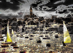 Marblehead Harbor (Rusty Russ) Tags: marblehead ma harbor neck sail boat water landscape rework new improved colorful day digital flickr country bright happy colour scenic america world sunset sky red nature blue white tree green art light sun cloud park summer old photoshop google bing yahoo stumbleupon getty national geographic creative composite manipulation hue pinterest blog twitter comons wiki pixel artistic topaz filter on1 sunshine image reddit tinder russ seidel facebook timber unique unusual fascinating