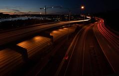 Inbound Outbound | Seattle (sunrisesoup) Tags: cartrails lighttrails longexposure seattle sunset lakeunion a7r¡¡¡ sony mirrorless
