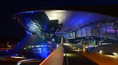 Munich - BMW Welt (cnmark) Tags: germany munich deutschland münchen bayern bavaria milbertshofenamhart bmwwelt building architecture exhibition event delivery center gebäude architektur night nacht nachtaufnahme blue hour blaue stunde ©allrightsreserved