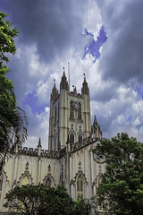 St Paul' Cathedral (Kolkata) (soumen19xx) Tags: eos asia india kolkata canon 600d photos photography photoshop stillphotography color chlorophyl clouds sky soumenray leaves digital stpaulscathedral dome church cathedral creative art window 24mm
