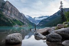 Evening in August, Lake Louise (LadyBMerritt) Tags: lakelouise albert banff landscape canadianlandscape explorecanada mountainlandscape therockies thecanadianrockies