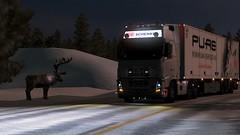 Moose (Trucker 19) Tags: 700 fh16 volvotruck ets2 eurotrucksimulator2 holland scandinavia nordicliner northen light dbschenker bridge moose snowstorm winter ferry cruiseship