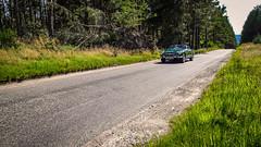 MGB (prajpix) Tags: car auto automobile vehicle classic convertible veteran green road way transport driving topdown motor motoring woods woodland invernesshite highlands scotland broad tarmac