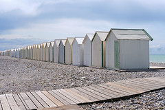 taste of infinity (the ripped bystander) Tags: beach shelter normandy alignment