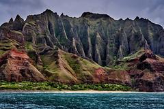 Na Pali Coastline (AgarwalArun) Tags: sonya7m2 sonyilce7m2 sony waimeacanyon statepark grandcanyonofthepacific canyon valleys mountains waterfall trees cliffs peaks kauai hawaii napalicoast ruggedcoastline