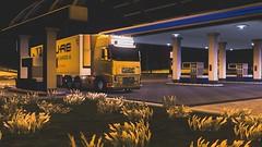 Refueling (Trucker 19) Tags: 700 fh16 volvotruck ets2 eurotrucksimulator2 holland scandinavia nordicliner northen light dbschenker bridge moose snowstorm winter ferry cruiseship