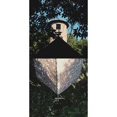 Chapelle Notre-Dame-du-Puy-de-Bar, Haute-Vienne. (matériel brouilleur) Tags: lumix panasoniclumix lomography lomo plasticlens diptyque diptych diptico chapelle chapel capilla puydebar hautevienne nouvelleaquitaine