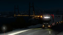 Norway (Trucker 19) Tags: 700 fh16 volvotruck ets2 eurotrucksimulator2 holland scandinavia nordicliner northen light dbschenker bridge moose snowstorm winter ferry cruiseship