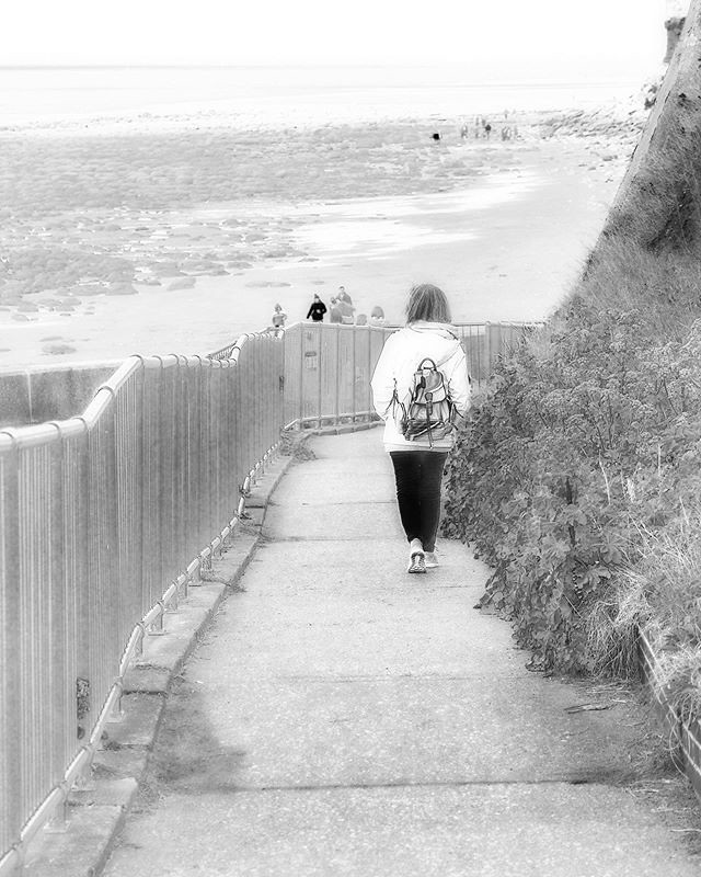 Walk to the Beach. Taken at Old Hunstanton back in April. #oldhunstanton #monochromephotography #olympusomdem1mkii #pad #photoaday