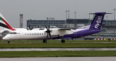 G-JECP (PrestwickAirportPhotography) Tags: egcc manchester airport flybe bombardier dash 8 gjecp