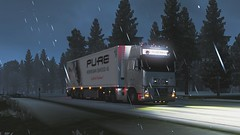 On the road again (Trucker 19) Tags: 700 fh16 volvotruck ets2 eurotrucksimulator2 holland scandinavia nordicliner northen light dbschenker bridge moose snowstorm winter ferry cruiseship