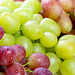 Different varieties of fresh ripe grapes