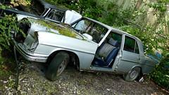 Mercedes W108 (vwcorrado89) Tags: benz mercedes mercedesbenz w se sel w108 108 rust rusty abandoned wreck old car junkyard yunkyard