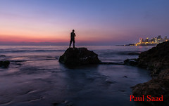 Silhouette (Paul Saad) Tags: lebanon beirut shadow sunset sunrise dusk dawn sea beach ocean waves longexposure lights night