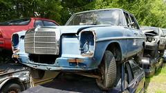Mercedes /8 (vwcorrado89) Tags: benz mercedes mercedesbenz 8 w114 w115 w 114 115 200d 200 d rust rusty abandoned wreck old car junkyard yunkyard