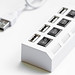 Close-up of USB hub on white background
