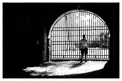 Disease (Lucretia My Reflection) Tags: street streetphotography streetphoto cage jail prison disease illness addiction blackandwhite blackandwhitephotography bw barrier bar trap trapped escape noescape outside freedom locked life