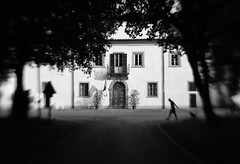 Ancient castle (Lucretia My Reflection) Tags: castle stronghold fortress fort fortification medici demedici medicifamily medicean villa mediceanvilla xvicentury 1500 old ancient ancientcastle oldcastle italian italy italiancastle coltano street streetphotography streetphoto blackandwhite blackandwhitephotography blur sweet35 lensbaby tiltlens seeinaway