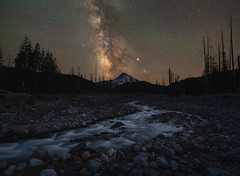 Eliot Branch Stream Under The Stars (Mike Ver Sprill - Milky Way Mike) Tags: eliot branch stream creek milky way galaxy universe stars starry astrophotography photography landscape nightscape nikon mike ver sprill michael travel explore rocks open mount hoot mt oregon lawrence lake hood river night sky dark skies nature glacier