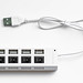 USB hub on white background