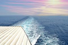 coming or leaving... (Love me tender ♪¸.•*´¨´¨*•.♪¸.•*´) Tags: traveling onboard water waves sea seascape blue white minimal greece saronic dimitrakirgiannaki photography nikond3100