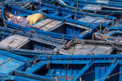 Boat jam (Irina1010) Tags: boats fishing fishingboats blue jam harbor essaouira atlantic morocco wood canon