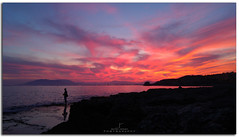 The lonely fisherman (jaroro70) Tags: mar mediterraneo málaga malaga nubes atardecer pescador araña aire libre cielo puesta sol escena tranquila naturaleza paisaje dramatico